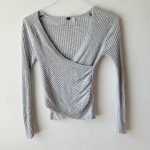 H&M Wrapped Gray Long Sleeve